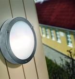 Outdoor wall light deck house galvanized, inox glass 200