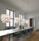 Luminaire suspendu fleur blanc E27 500mm diamètre