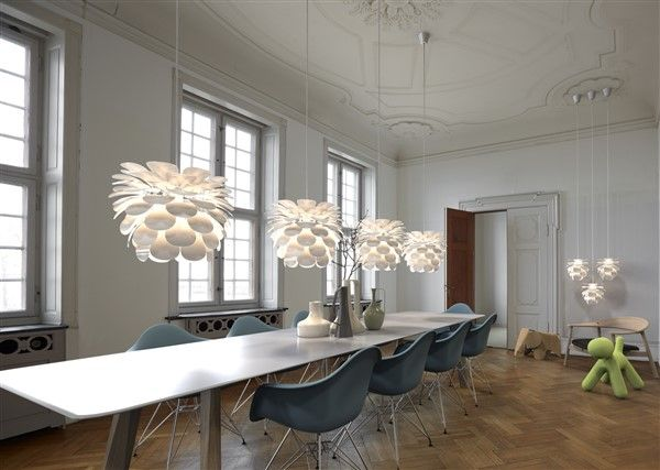 Pendant light flower white E27 500mm diameter