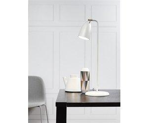 Lampe de bureau led blanche noire grise acier brossé chrome gu