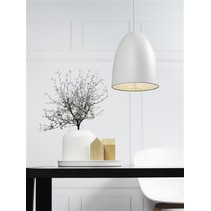 Pendant light black-white-grey-brushed steel 200mm