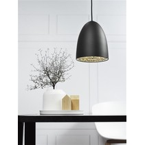 Pendant light black-white-grey-chrome-brushed steel 200mm
