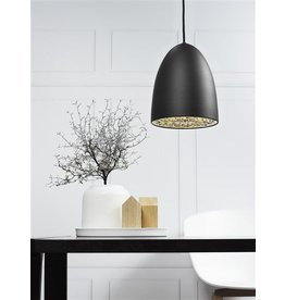 Pendant light black-white-grey-chrome-brushed steel 200mm
