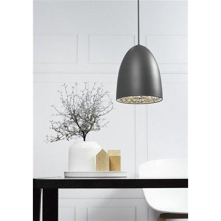 Pendant light black-white-grey-brushed steel 200mm