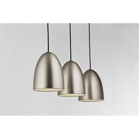 Pendant light grey conic E27x3 1130mm wide