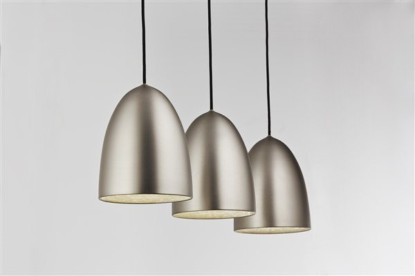Pendant light grey conic E27x3 1130mm wide