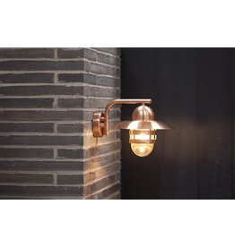 Outdoor wall light copper or galvanized E27 280mm Ø
