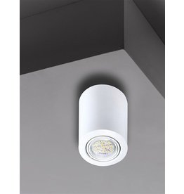 Ceiling light black, white or grey GU10 round 117mm high