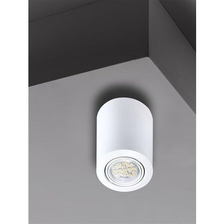 Ceiling light black, white or grey GU10 round 117mm high