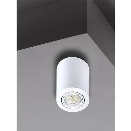 Plafondlamp zwart, wit of grijs GU10 rond 117mm hoog