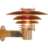 Outdoor wall light copper or galvanized E27 IP54 310mm Ø