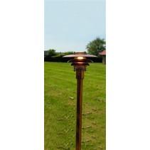 Bollard light copper or grey E27 1130mm high