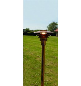 Bollard light copper or grey E27 1130mm high