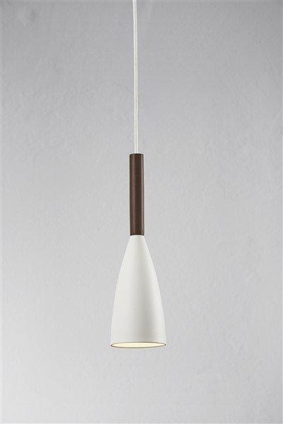 Hanglamp design zwart, wit of grijs conisch E27 355mm