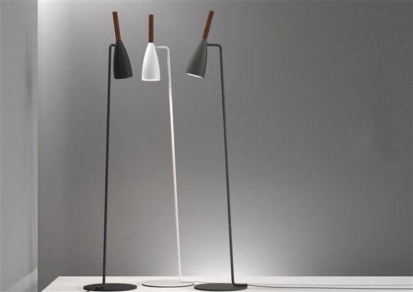 Floor lamp design black white or grey gu mm h myplanetled
