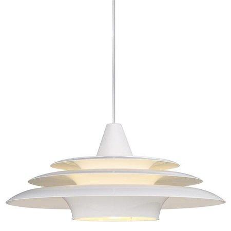 Luminaire suspendu rond blanc UFO E27 400mm diamètre