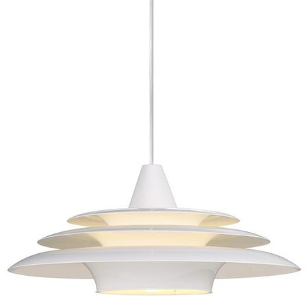 Pendant light round UFO white E27 400mm diameter
