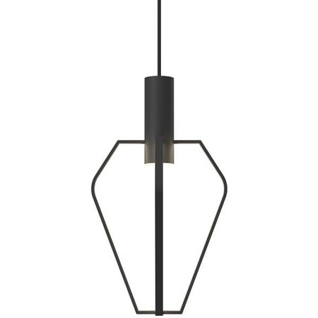 Pendant light cage LED black-white GU10 dimmable 6W 480mm high