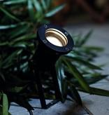Ground spot black on tripod orientable GU10 400mm