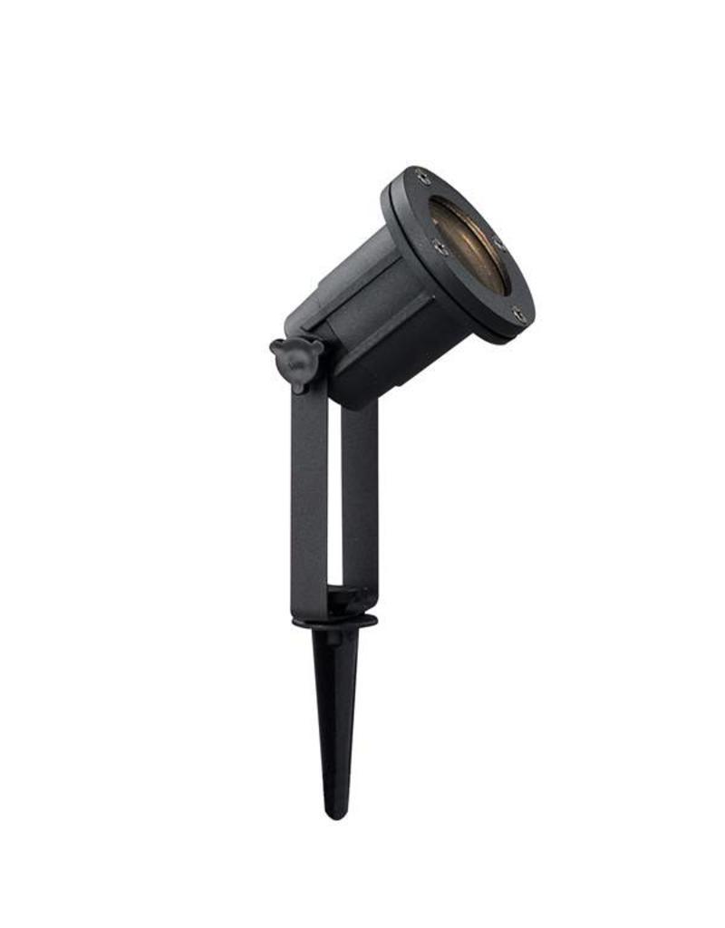 Ground spot black or grey on tripod orientable GU10 400mm