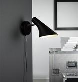 Wall light design black or white E14 145mm diameter