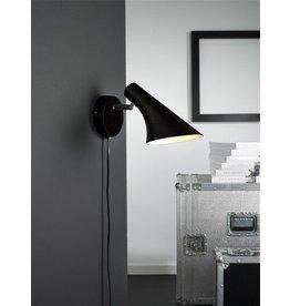 Wandlamp design zwart of wit E14 145mm diameter