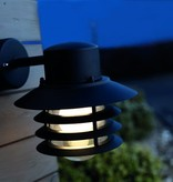 Outdoor wall light black or galvanized downward E27 220mm