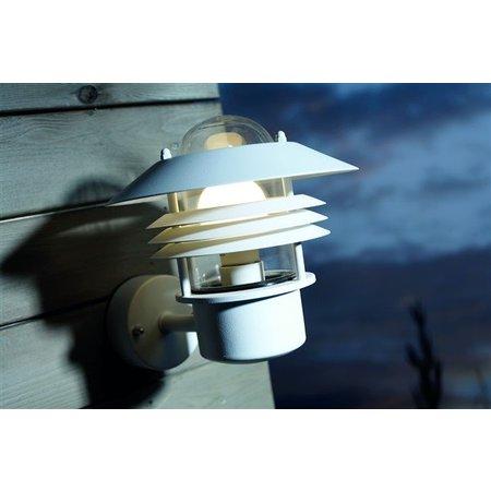 Wandlamp buiten zwart-wit-gegalvaniseerd-inox IP54 220 Ø