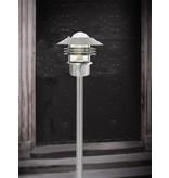 Bollard light black-galvanized-inox E27 IP54 glass 920mm high