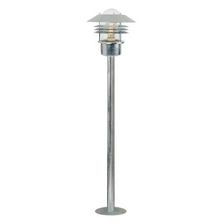 Bollard light black-galvanized-inox E27 IP54 glass 920mm high