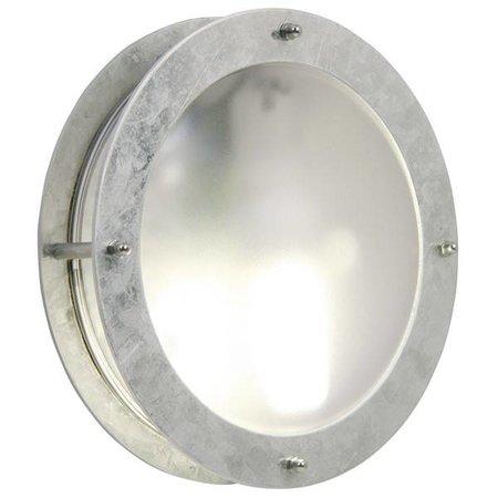Outdoor wall light deck house round grey 240mm diameter