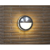 Outdoor wall light deck house grey round half 240mm Ø