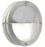 Wandlamp buiten kajuit grijs rond half E27 IP54 240mm Ø
