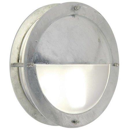 Outdoor wall light deck house grey round half 240mm Ø