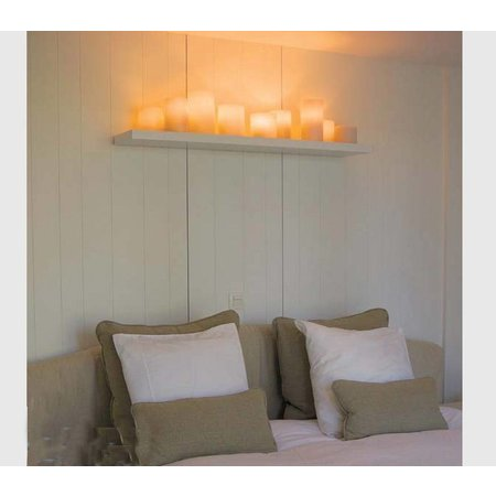 Wall light for bedroom design LED 7 candles 80mm wide