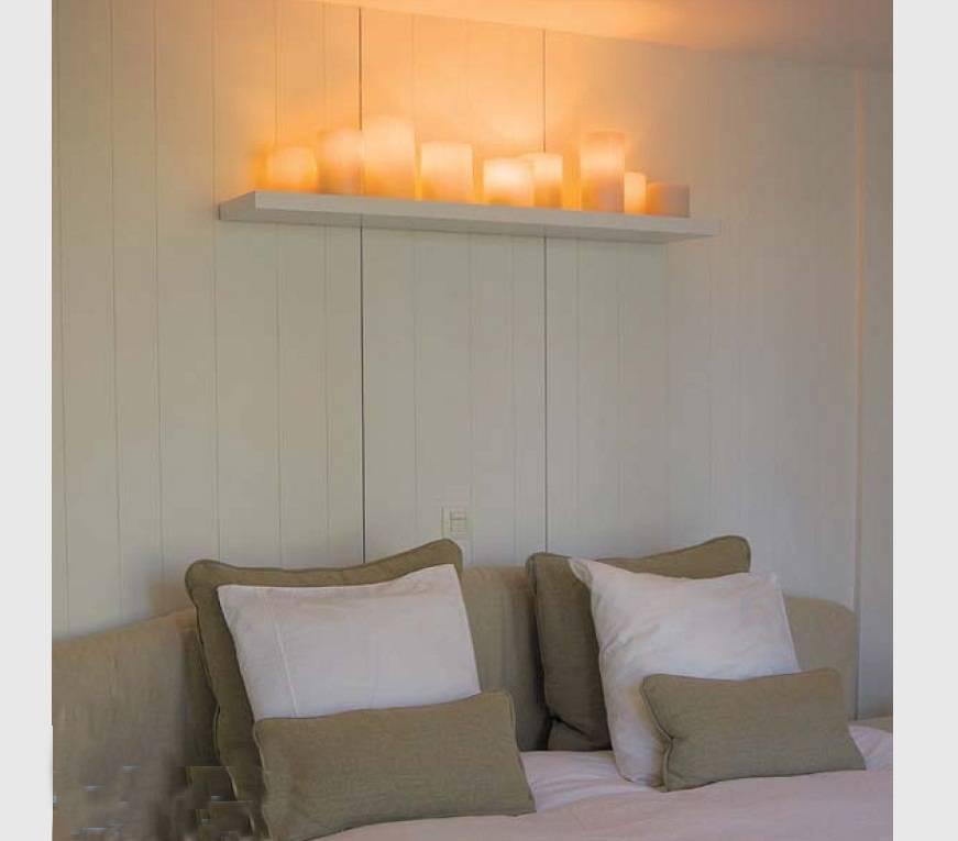 applique murale bougie x5 bronze chrome blanche led. Black Bedroom Furniture Sets. Home Design Ideas