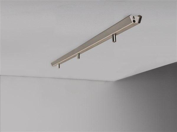 Rail for 3x pendant light 1130mm long white or grey
