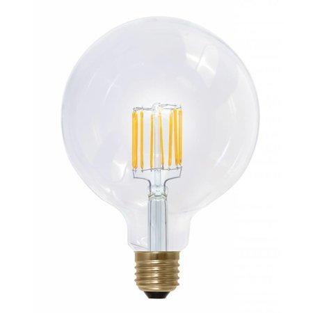 LED lamp E27 rond 8W filament dimbaar goudkleurig