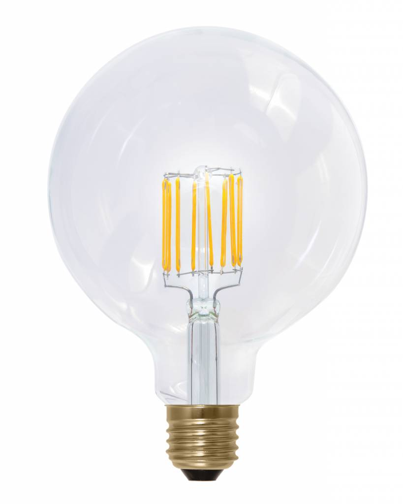 ampoule led e27 ronde 8w dimmable filament dor e myplanetled. Black Bedroom Furniture Sets. Home Design Ideas