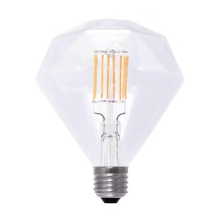 Ampoule diamant LED E27 6W filament