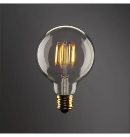 LED bulb light round 8W filament E27 dimmable gold colour