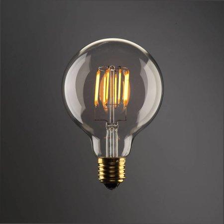 Ampoule LED E27 ronde 8W dimmable filament dorée