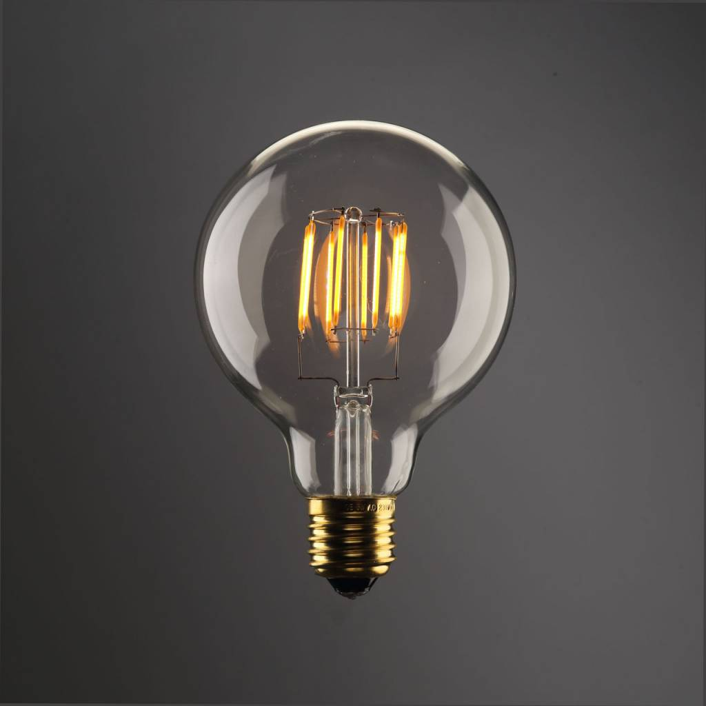 led bulb light round 8w filament e27 dimmable gold colour myplanetled. Black Bedroom Furniture Sets. Home Design Ideas