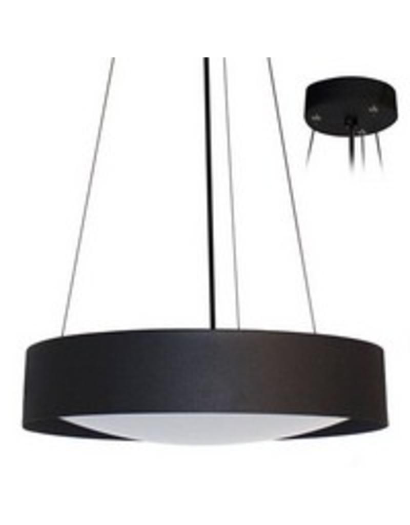 Hanglamp boven eettafel LED rond wit, zwart 366mm  u00d8 30W   Myplane