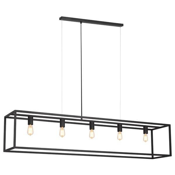 Pendant light black or rust rustic E27x5 1500mm long