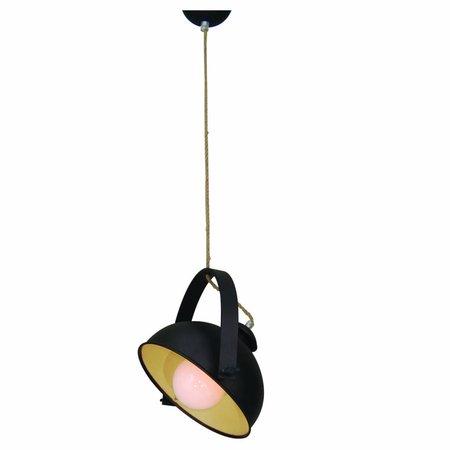 Luminaire suspendu vintage brun rouille beige 350mm E27