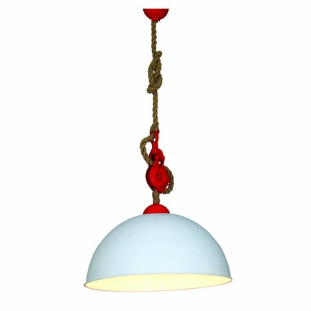 Luminaire suspendu vintage cuisine blanc rouge 500mm e27 for Luminaire cuisine rouge