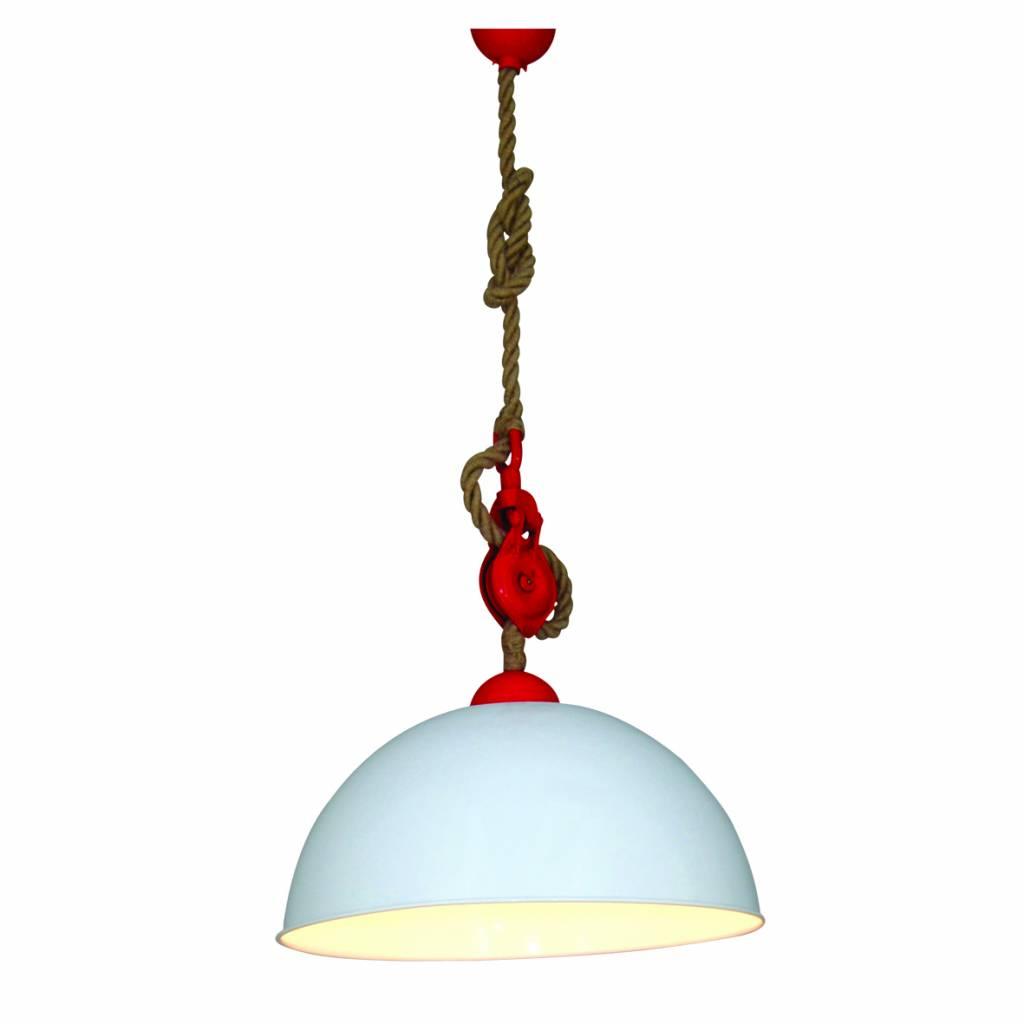 luminaire suspendu vintage cuisine blanc rouge 500mm e27 myplanetled. Black Bedroom Furniture Sets. Home Design Ideas