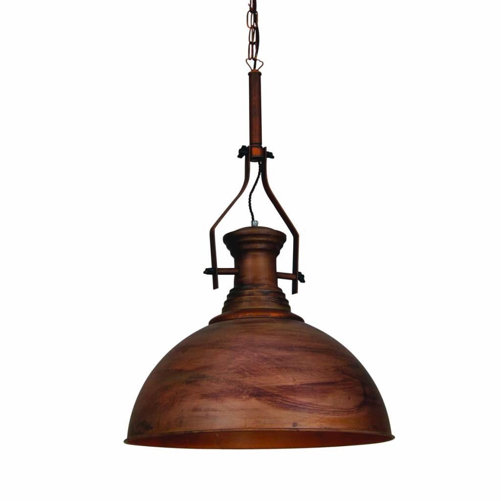 Pendant light chain copper bronze white black industrial for Luminaire exterieur