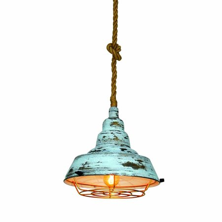 Hanglamp industrieel goedkoop wit-groen-oud wit 350mm E27